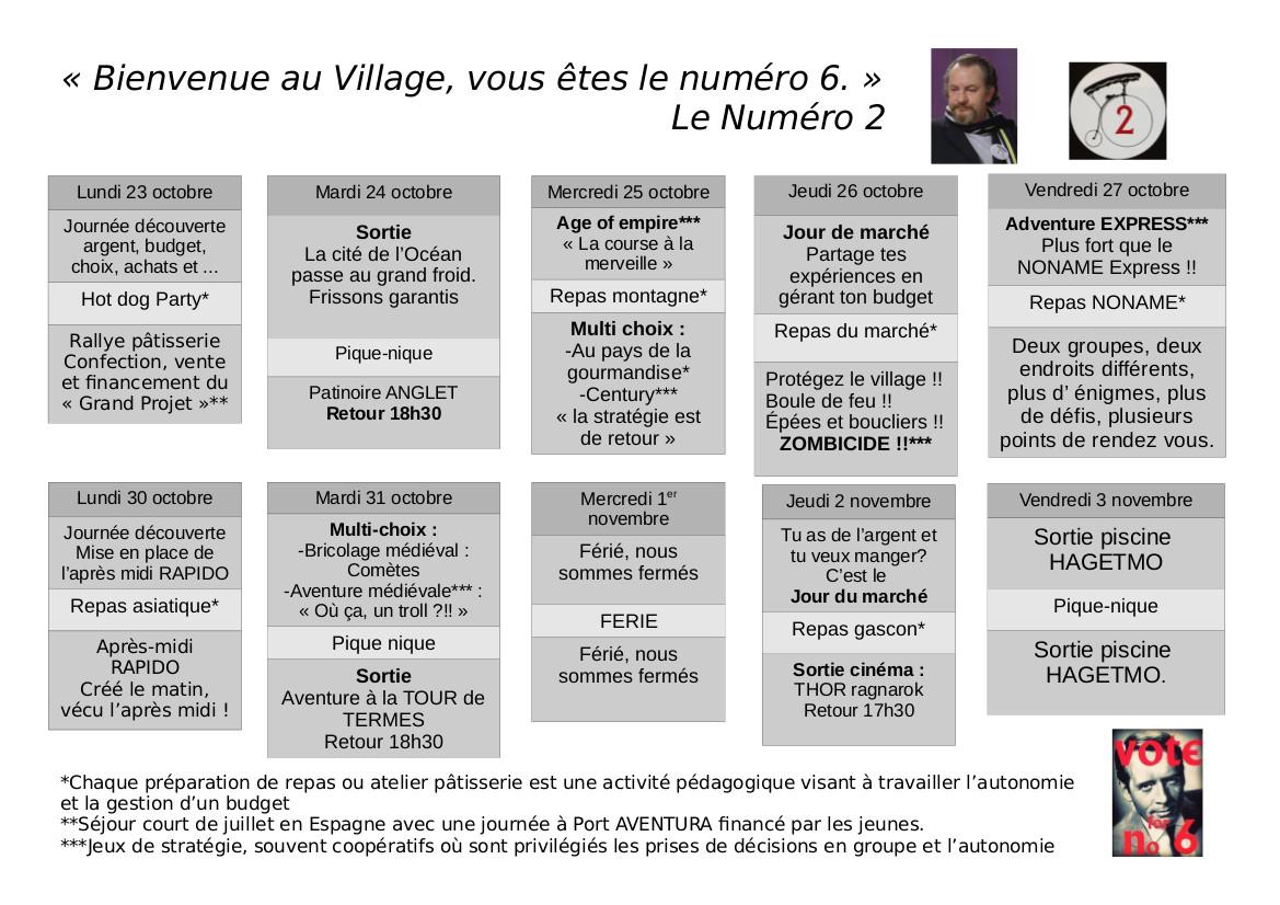 Programme Noname Doctobre Centre Social Et Culturel Le Clan